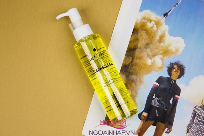 dau tay trang sakura cleansing oil