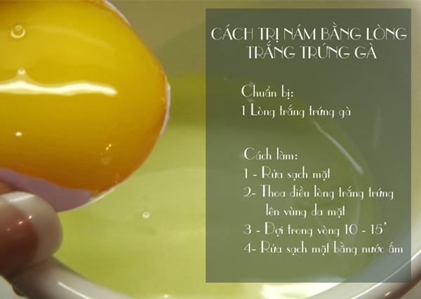 Trị nám da mặt siêu tiết kiệm bằng trứng gà