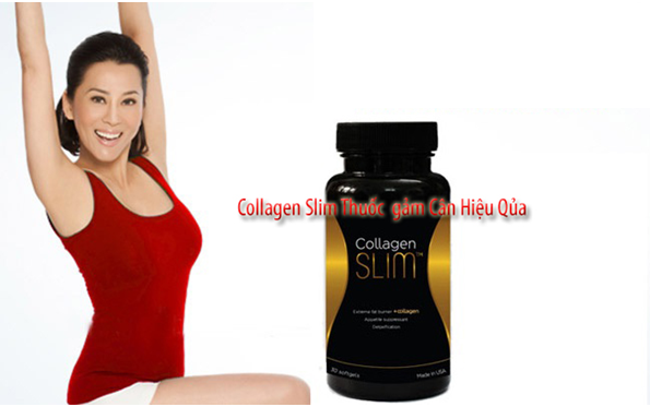 vien uong giam can collagen slim usa