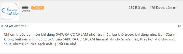 danh gia ve sakura cc cream