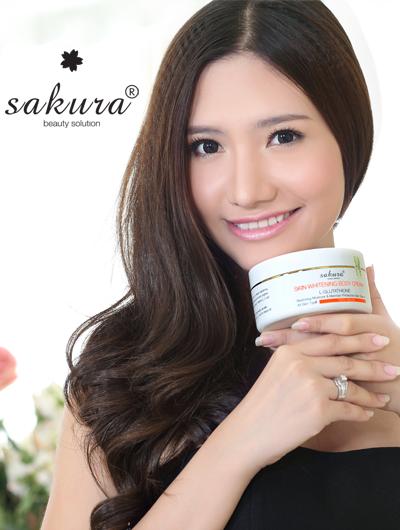 Kem dưỡng trắng da toàn thân Sakura Skin Whitening Body Cream L-Glutathione
