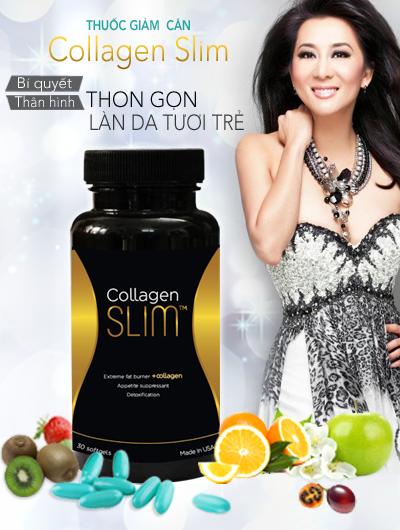 Viên Uống Giảm Cân Collagen Slim USA Kỳ Duyên