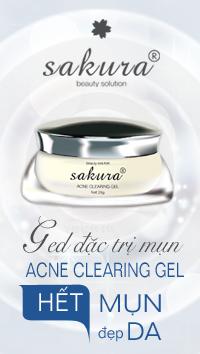 Gel đặc trị mụn Sakura Acne Clearing Gel