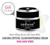 Kem Dưỡng Trắng Da, Trị Nám (Đêm) Sakura Whitening Night Cream