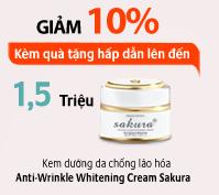 Kem dưỡng trắng da chống lão hóa  Sakura Anti - Aging Whitening Cream