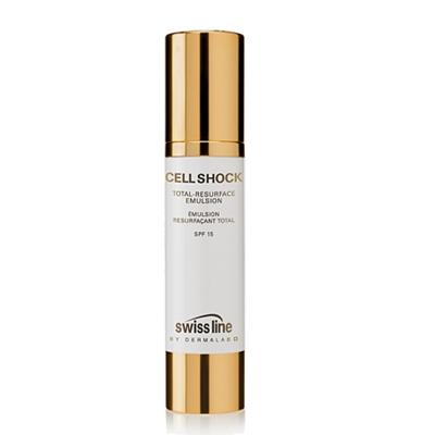 Kem chống lão hóa da Cell Shock Total Resurface Elmulsion SPF 15 Swissline