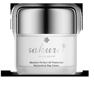 Kem dưỡng trắng phục hồi da ban ngày Sakura Absolute Perfect UV Protection Restorative Day Cream