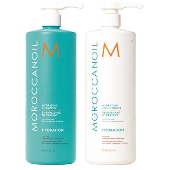 Bộ đôi dầu gội dưỡng ẩm Moroccanoil Hydration 500ml