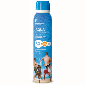 Chai xịt chống nắng Repavar cực dịu nhẹ Protextrem Suncare Aqua Wet Skin Spray Gel SPF50+