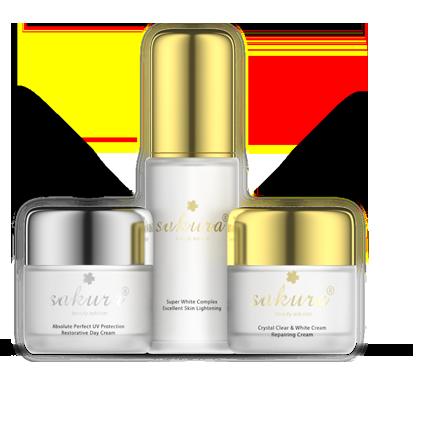 Bộ sản phẩm dưỡng trắng phục hồi và làm khỏe da Sakura Whitening
