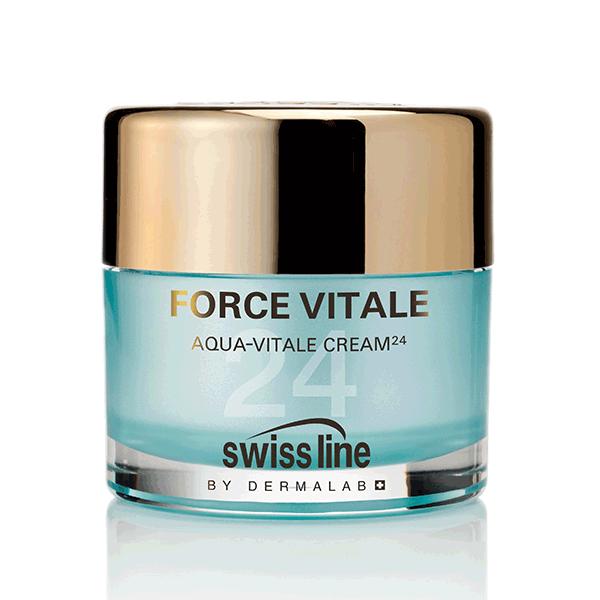 Kem tiếp nước và hồi sinh da cấp tốc Swissline Aqua Vitale Cream 24
