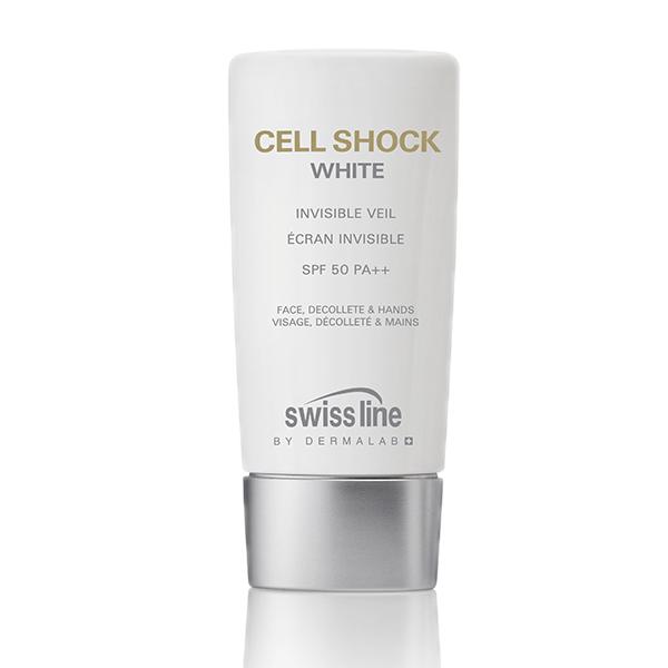 Sữa chống nắng chống lão hóa Swissline Cell Shock White Invisible Veil SPF50 PA++