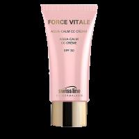 Kem chống nắng làm nền trang điểm Swissline Force Vitale Aqua Calm CC Cream SPF30