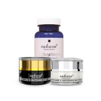 Bộ sản phẩm trị nám, tàn nhang, đốm nâu và trắng da cao cấp Sakura
