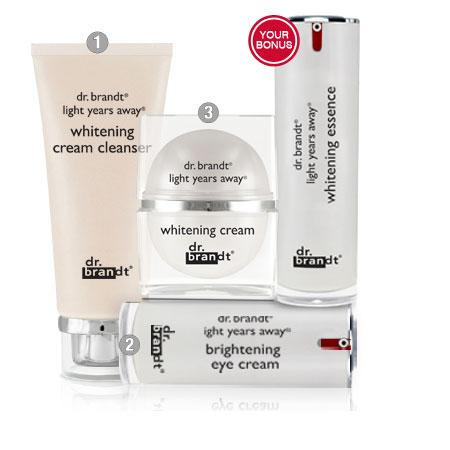 Bộ giải pháp Dưỡng Trắng Da giúp giảm Nám Dr. Brandt Brightening / Dark Spots Skincare Solution