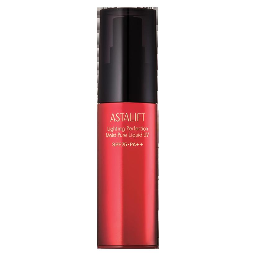 Kem nền dưỡng ẩm với tinh thể lọc ánh sáng Astalift Lighting Perfection Mois Pure Liquid UV SPF25/PA++