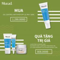 Bộ sản phẩm chống nắng, kiềm dầu, trị mụn, dưỡng da hoàn hảo Murad