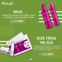 Bộ đôi tẩy trang, làm sạch da và dưỡng ẩm cao cấp Murad