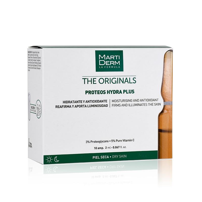 Tinh chất dưỡng ẩm chuyên sâu chống lão hóa cho da khô MartiDerm Proteos Hydra Plus (10 ống)