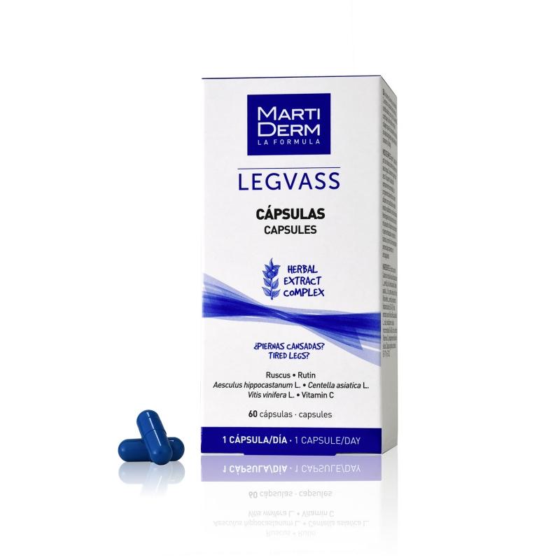 Viên uống lưu thông máu và giảm nhức chân MartiDerm Legvass Capsules