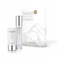 Bộ sản phẩm trắng sáng và bảo vệ da toàn diện Swissline Cell Shock White Swiss Brightening Power