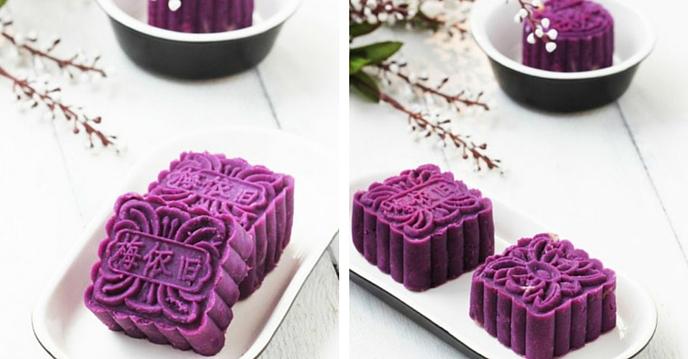 Cách làm bánh trung thu khoai lang tím đẹp rụng tim cho mùa trung thu thêm ý nghĩa