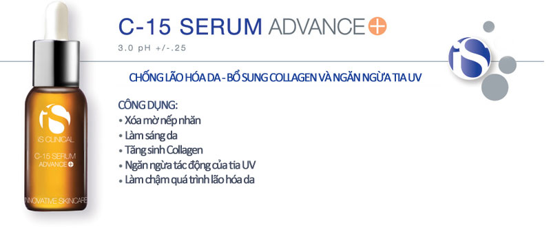 Điều Trị Nám Tàn Nhang IS CLINICAL C-15 Serum Advance