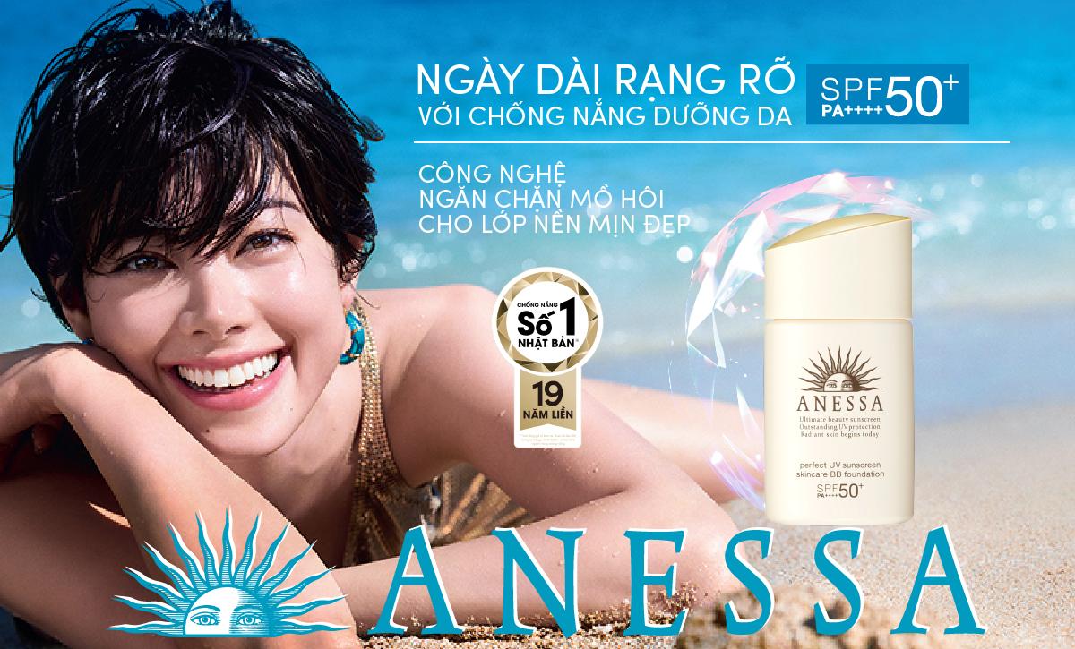 Kem nền trang điểm chống nắng dạng nén Anessa Perfect UV Sunscreen Skincare Base Makeup Light SPF50+ PA+++